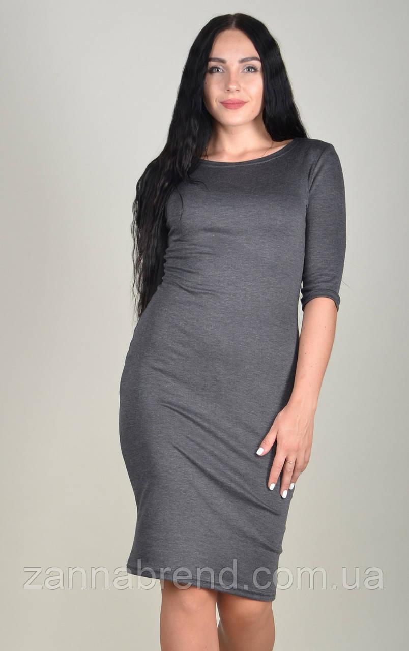09df5d1cc75 Платье футляр женское ZANNA BREND 100 рукав три четверти серый - Zanna -  интернет магазин Тканей
