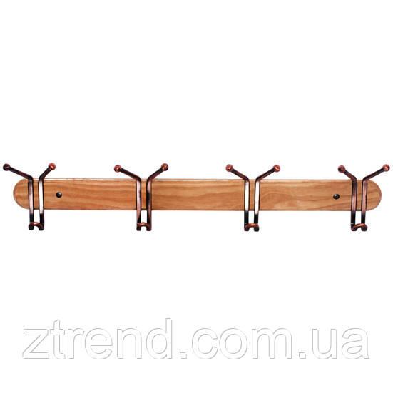 Вешалка на деревянной планке 63*13см