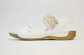 Босоножки кожаные белые Aspena 546, фото 2