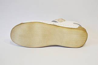 Босоножки кожаные белые Aspena 546, фото 3