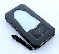 Solar Power Bank UKC 25800 mAh на солнечной батарее 2 USB + LED фонарь