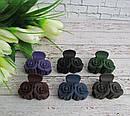 Крабики для волос каучук цветные  L 4 см 12 шт/уп, фото 2