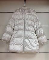 Пальто для девочки пуховое Chicco белое, фото 1