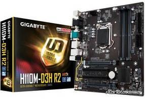 Материнская плата Gigabyte GA-H110M-D3H R2 Micro-ATX, Socket 1151, 6-е и 7-е поколение Intel Core i7/Core i5/Core i3/, Intel, Intel H110, DDR4, 64