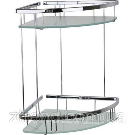 Полочка для ванной комнаты со стеклом