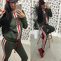 Женский спортивный костюм «ЗМЕЯ» в стиле спортшик, в расцветках (МА-3-0418)