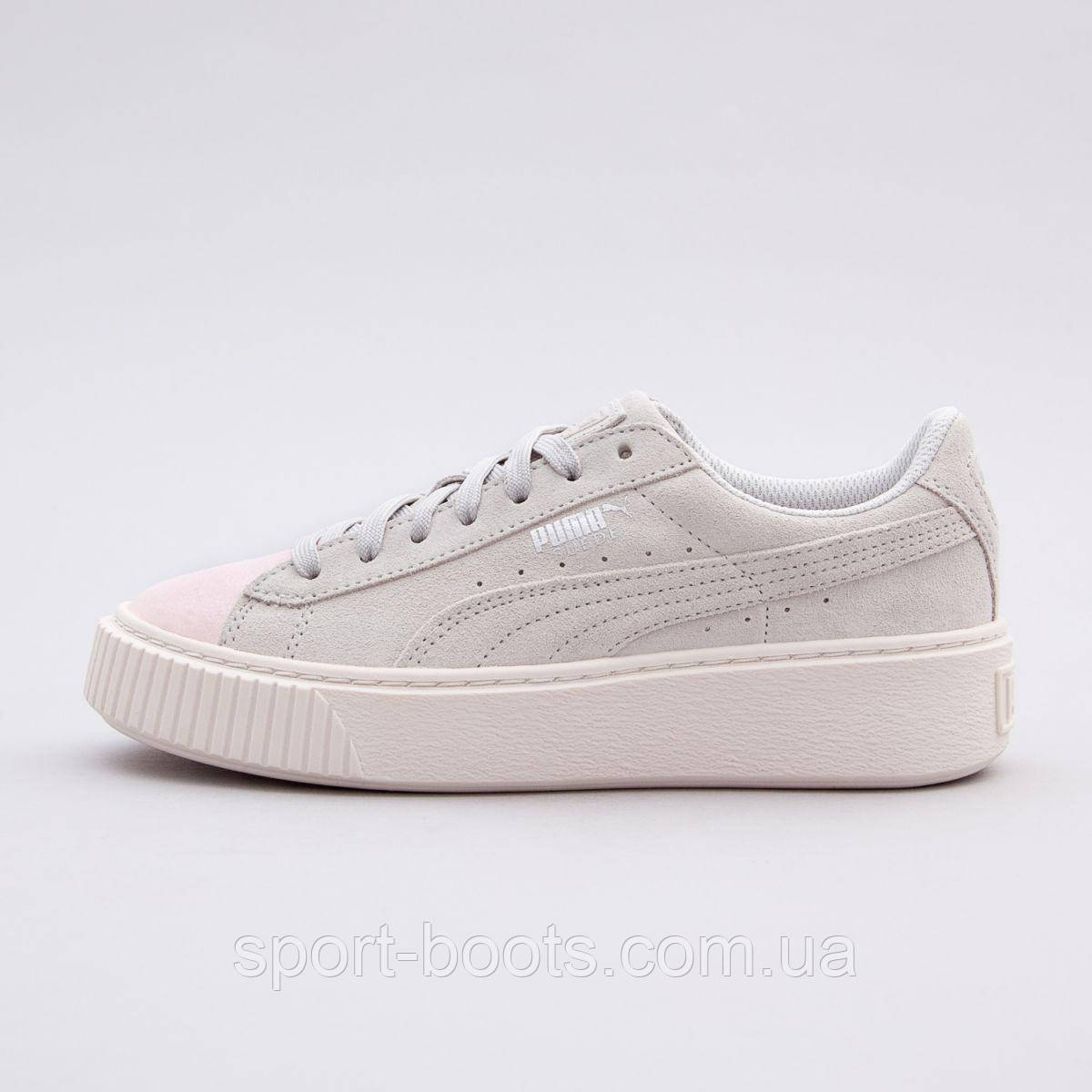 c7091182 Оригинальные кроссовки PUMA SUEDE PLATFORM GLAM JR: продажа, цена в ...