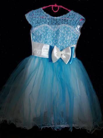 Детское красивое платье c юбкой из фатина на 6-7 лет, фото 2
