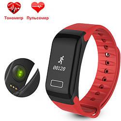 Фитнес браслет WearFit F1 с функцией тонометра. Красный.