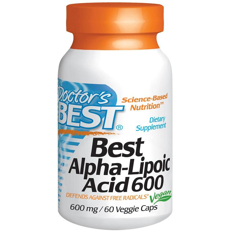 Doctor's Best, Альфа-липоевая кислота, 600 мг, 60 капсул
