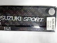 Надпись SUZUKIi sport металл  105х10 мм
