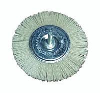 """Щетка абразивная полимерная """"Пиранья"""" для дрели 100*6 мм (Р80, белая, боковая)"""