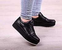 Женские туфли со шнурками натуральная кожа, фото 1