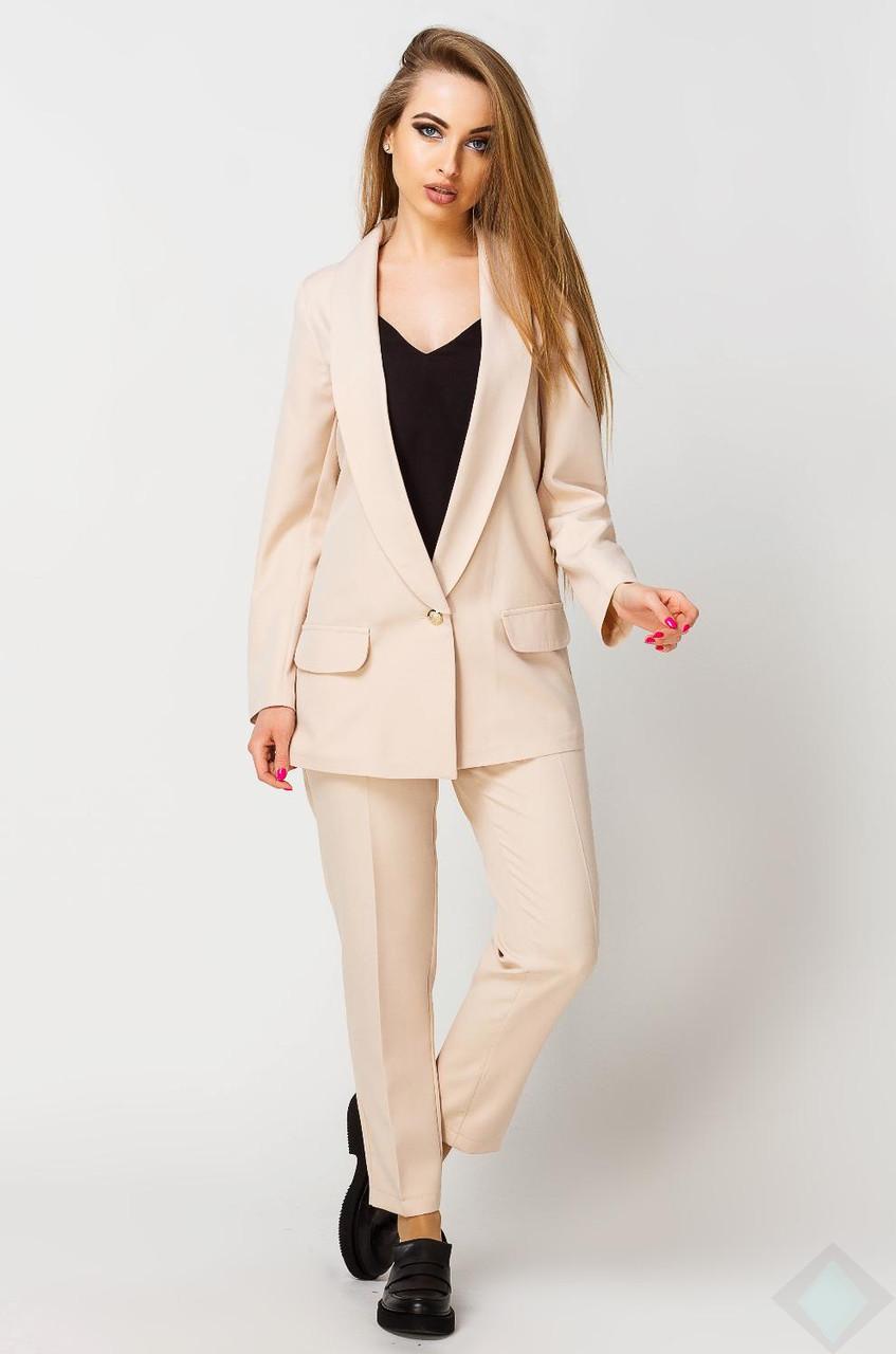 01880679a4d Бежевый костюм пиджак и брюки женские Адалина - DS Moda - женская одежда  оптом от производителя