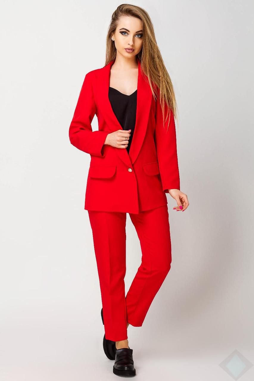 af1e8b3bc92 Красный костюм пиджак и брюки Адалина - DS Moda - женская одежда оптом от  производителя в