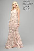 (3192) Вечернее Платье Пудра 48