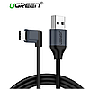 Ugreen 90° кабель Type-C - USB 2.0 для синхронизации и зарядки