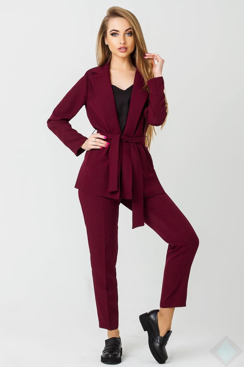 78f26e8c14f Деловой брючный костюм Одри бордовый - DS Moda - женская одежда оптом от  производителя в Харькове
