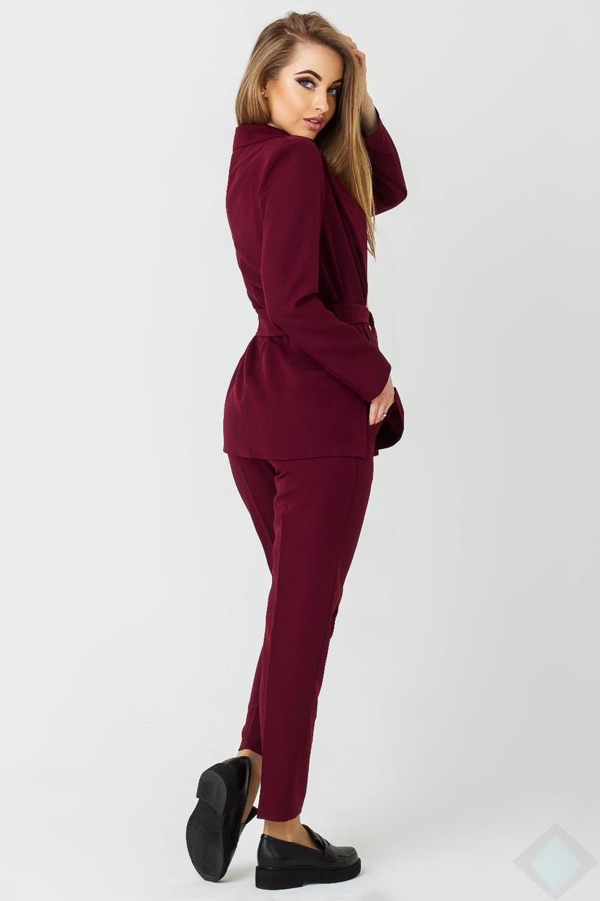 46aa2ca4c8e Деловой брючный костюм Одри бордовый