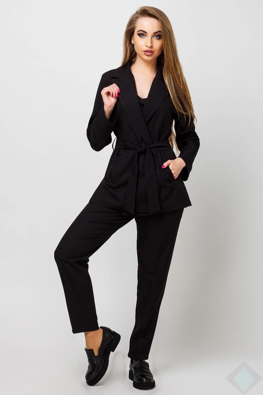 481416cdc62e Черный брючный костюм с пиджаком Одри - DS Moda - женская одежда оптом от  производителя в