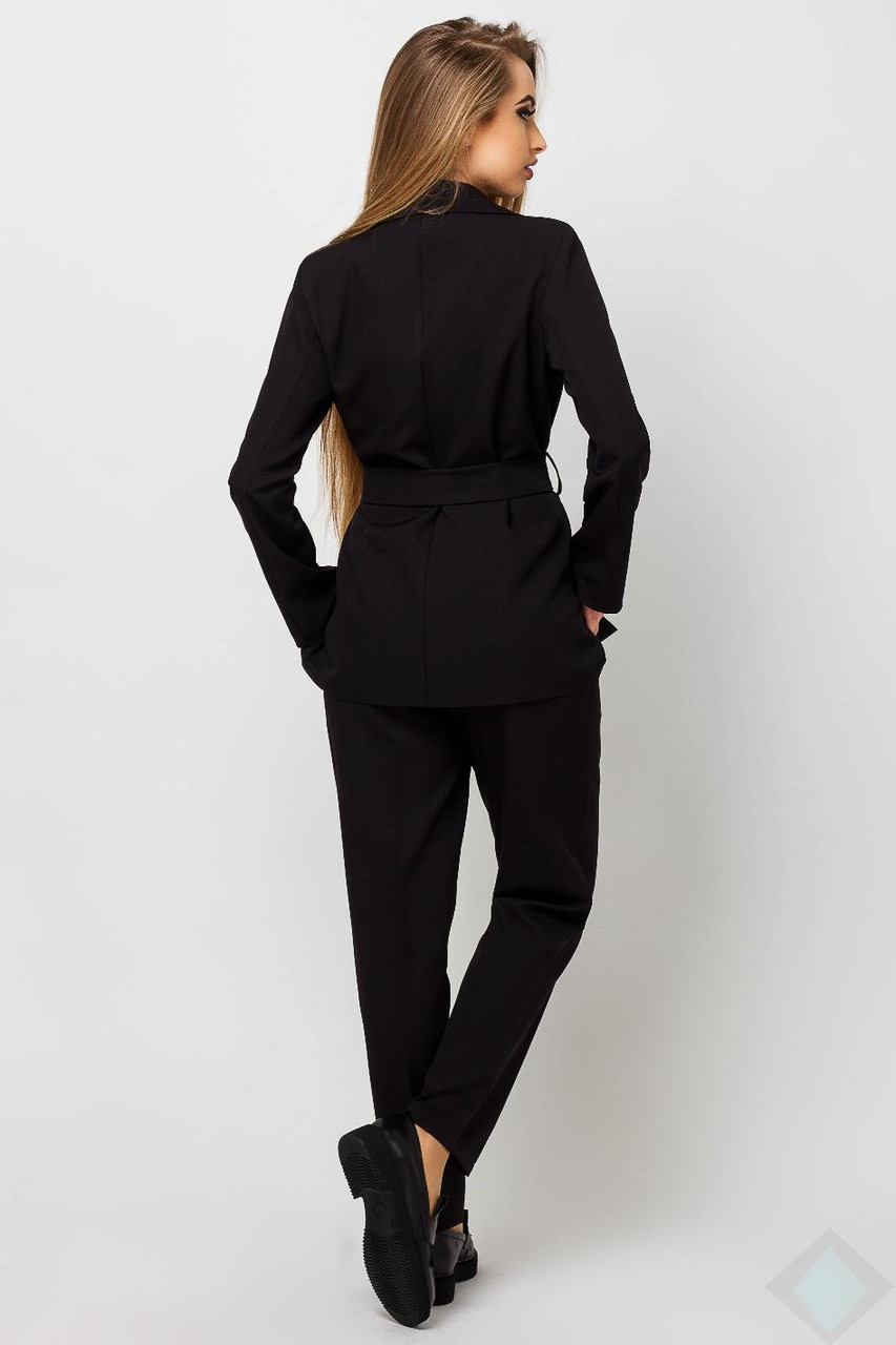 2be1c4fec1d5 Черный брючный костюм с пиджаком Одри