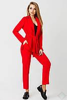 Женский костюм пиджак и брюки Одри красный