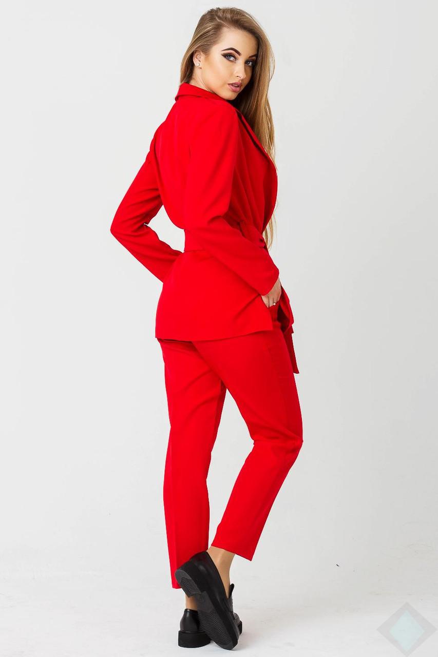 d7dc447e164 Стильный брючный костюм Одри красный