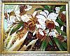 """Картина """"Дикая орхидея"""" из янтаря - эксклюзивный подарок"""