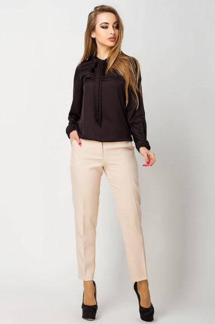 763e0b0496cb Прямые женские брюки Адалина бежевые