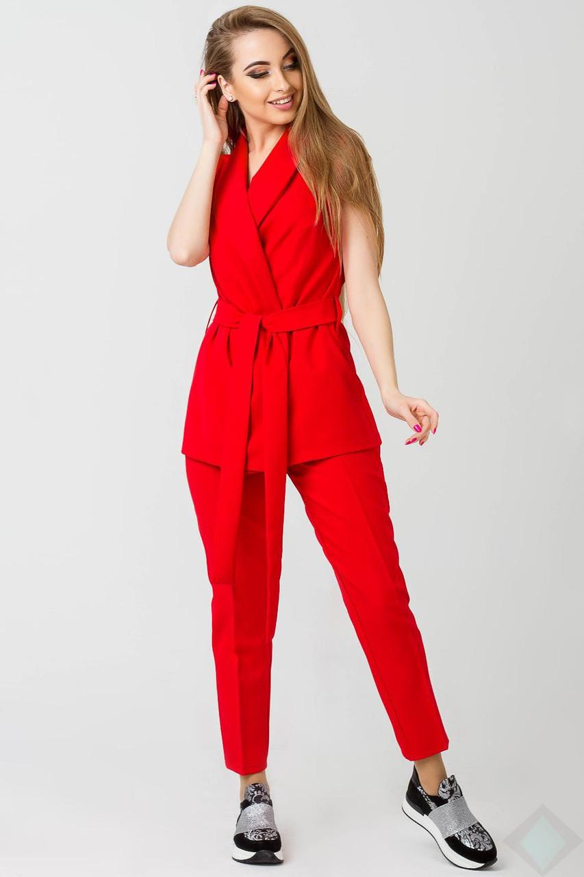 4401266be5d1 Прямые женские брюки Адалина красные