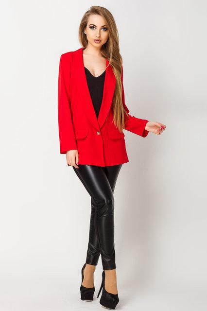 0b34b89aa247 Женский пиджак красного цвета Адалина