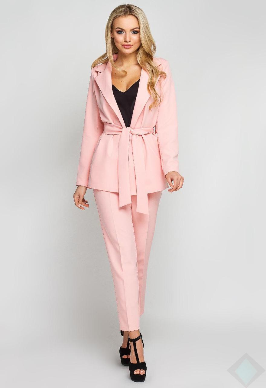 83fadf4f09e Модный розовый костюм с брюками Одри - DS Moda - женская одежда оптом от  производителя в