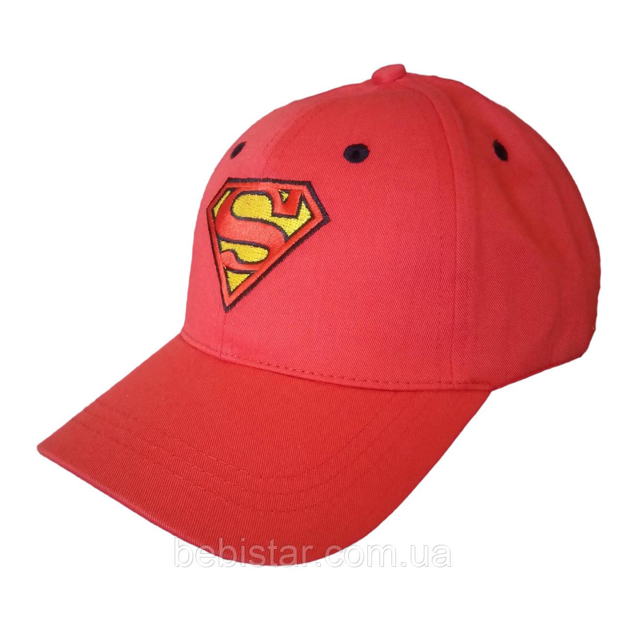 Кепка бейсболка  супермен красная для мальчика