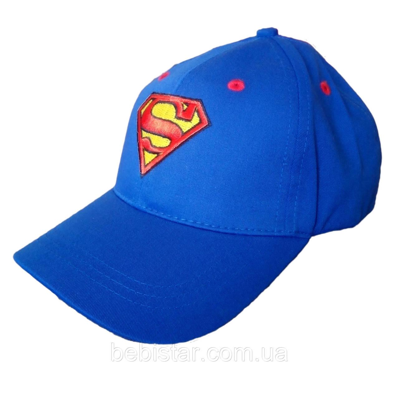 Кепка бейсболка супермен светло-синяя для мальчика