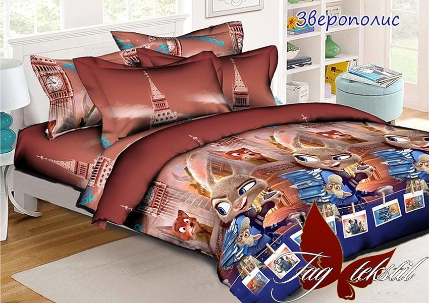 Постельное белье для детей ТМ ТАG/1.5-спальные Зверополис