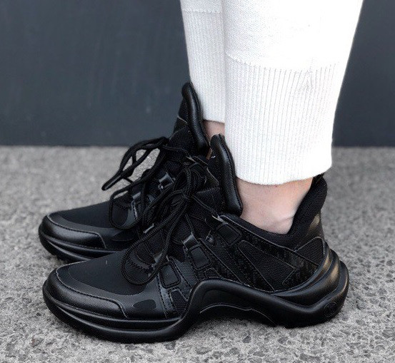 Кроссовки Louis Vuitton Archlight sneakers Triple black. Живое фото. Топ реплика ААА+ 36