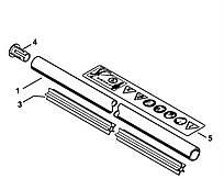 Хвостовик (штанга) Stihl Ø25,4 мм для мотокіс FS 55 (4140-710-7101)