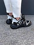 Кроссовки Louis Vuitton Archlight sneakers black/white. Живое фото. Топ реплика ААА+, фото 4