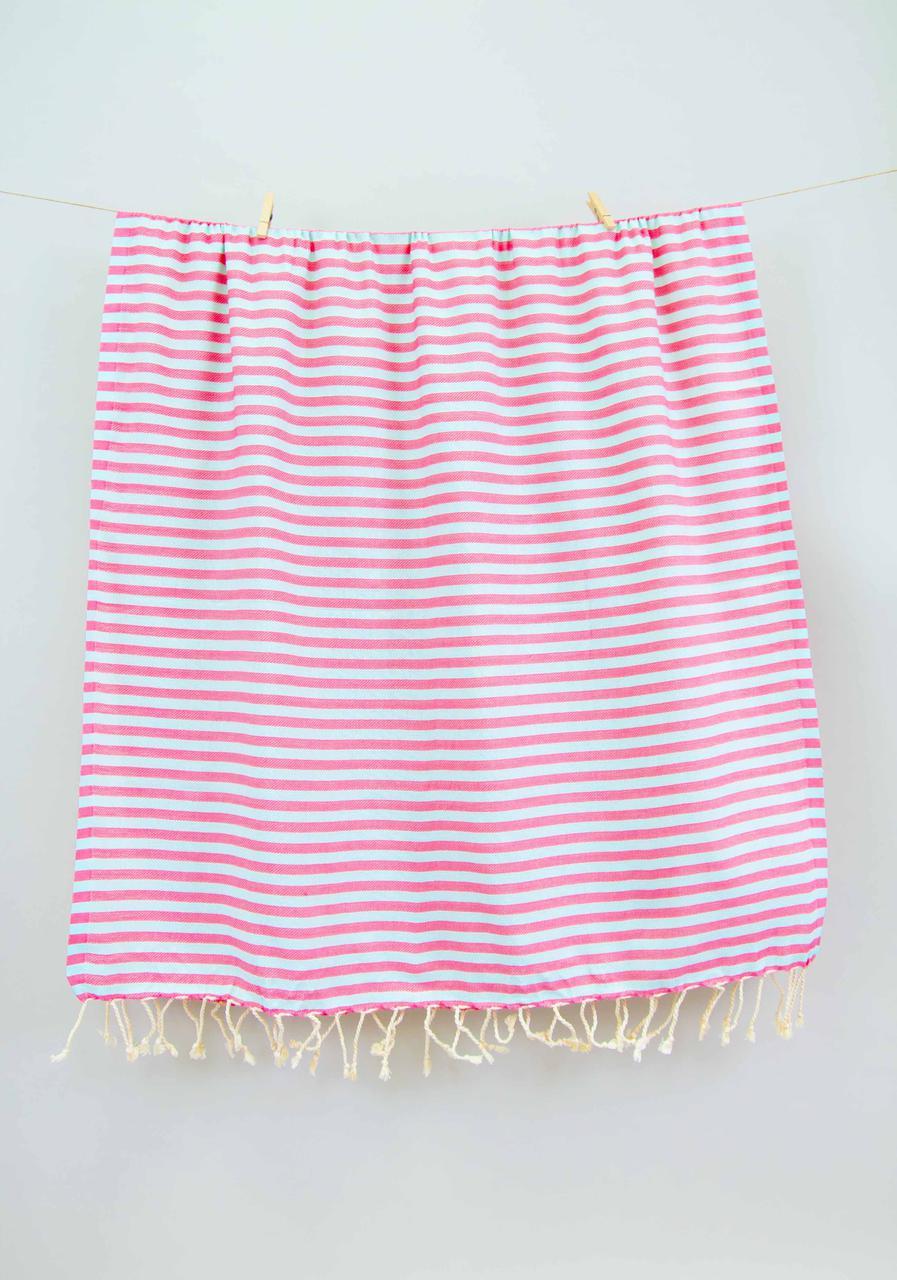 Полотенце-пештемаль пляжное Herringbone 100х185 Flamingo-mint Barine