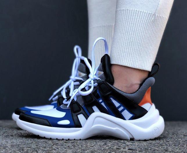 Кроссовки Louis Vuitton Archlight sneakers Archlight Blue. Живое фото. Топ реплика ААА+