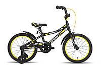 Велосипед 18'' PRIDE RIDER черно-жёлтый матовый 2015
