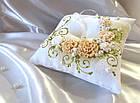 Подушечка для колец в мятном цвете, фото 4