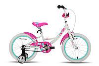"Велосипед 18"" PRIDE MIA бело-розовый глянцевый 2015"