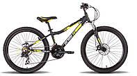 Велосипед 24'' PRIDE PILOT черно-жёлтый матовый 2015