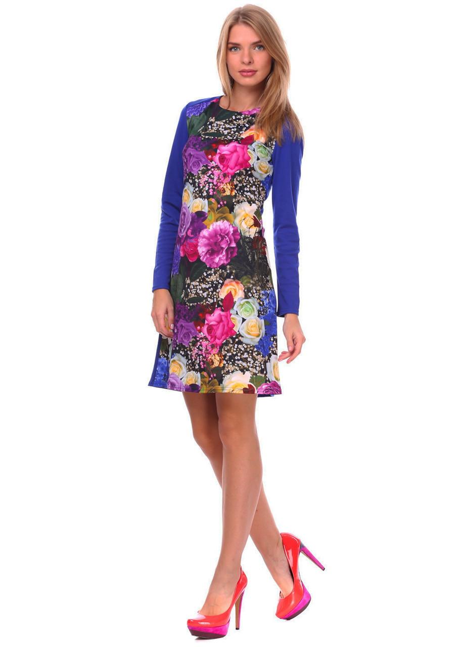 """Модное женское платье с цветочным принтом. """"модель Виола"""""""