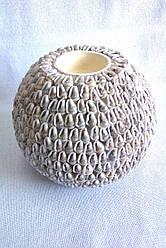 Оригінальний свічник з мушлів