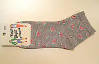 Женские заниженные носки с арбузными дольками
