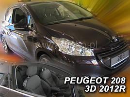 Дефлекторы окон (ветровики)  PEUGEOT 208 - 3D 2012R.-→(HEKO)