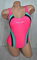 Спортивный слитный подростковый купальник для девочек, 34-42 разм