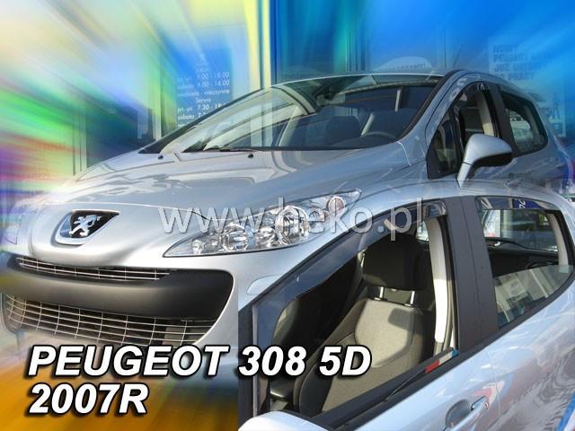 Дефлекторы окон (ветровики)  PEUGEOT 308 - 5D 2007R. →(HEKO)